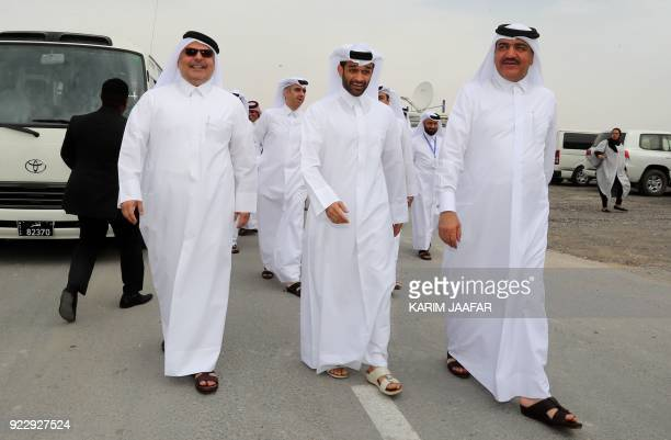 Qatari Minister of Municipality and Environment Mohammad Bin Abdullah Mitaab AlRumaihi SecretaryGeneral of the Qatar 2022 Supreme Committee Hassan...