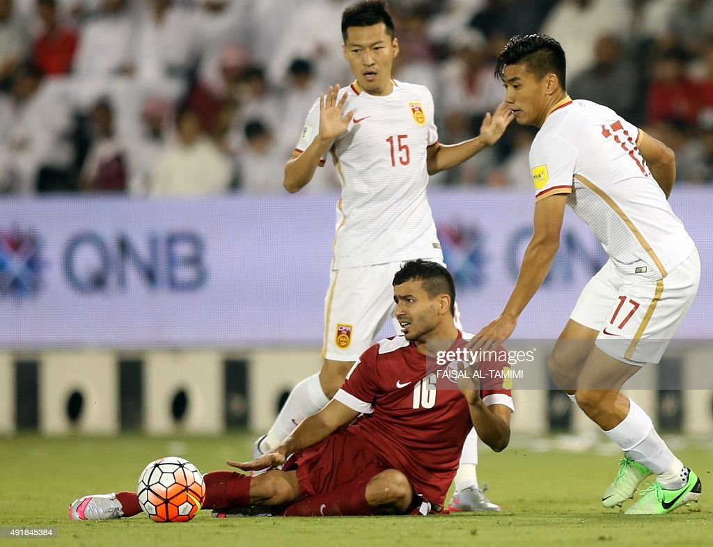 Amazing China World Cup 2018 - qatari-player-boualem-khoukhi-reacts-after-a-tackle-from-chinese-picture-id491845384  Pic_879100 .com/photos/qatari-player-boualem-khoukhi-reacts-after-a-tackle-from-chinese-picture-id491845384