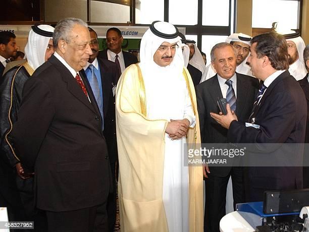 Qatari Prime Minister Sheikh Abdullah bin Khalifa alThani and his Egyptian counterpart Atef Ebeid visit the 6th Arab Telecom and Internet Forum...