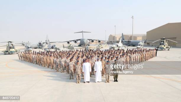 Qatari Sheikh Tamim bin Hamad Al Thani Minister of State for Defense of Qatar Khalid bin Mohammad Al Attiyah and Qatari Chief of the Army Mubarak...