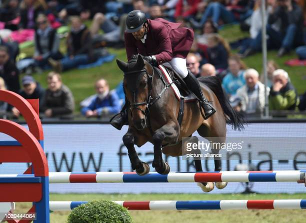 Qatar's Ali Yousef Al Rumaihi on Gunder during the Poresta YoungsterCup in Hamburg Germany 31 May 2014 The German show jumping and dressage...