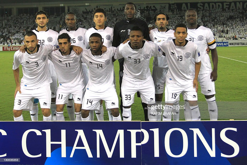 Qatar's Al-Sadd club pose for a group photo prior to their match against South Korea's Suwon Samsung Bluewings during their AFC Champions League semi-final football match at Al-Sadd stadium in Doha, on October 26, 2011. Suwon won 1-0.