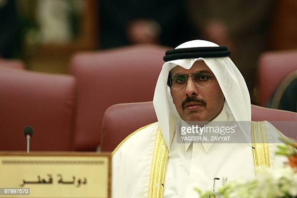 Qatar's central bank governor Sheikh Abdullah bin Saud alThani attends a meeting with other Gulf Cooperation Council central bank chiefs in Kuwait...