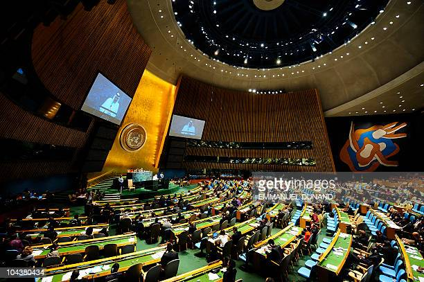 Qatar's Emir Sheikh Hamad bin Khalifa AlThani addresses the 65th General Assembly at the United Nations headquarters in New York September 23 2010...