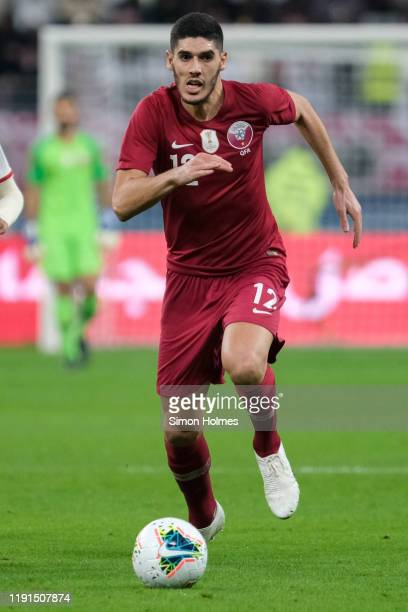 Qatar's Karim Boudiaf on the ball during the Gulf Cup group stage match between Qatar and United Arab Emirates at the Khalifa International Stadium...