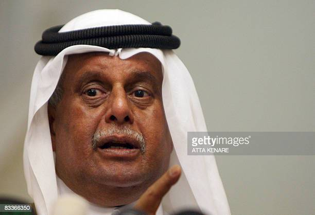 Qatar's Minister of Energy and Industry Abdullah bin Hamad alAttiyah speaks during a joint press conference with Iran's Oil Minister Gholam Hossein...