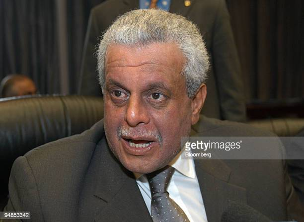Qatar's oil minister Abdullah bin Hamad alAttiyah speaks with journalists at the OPEC conference in Vienna Austria Wednesday March 31 2004 OPEC...