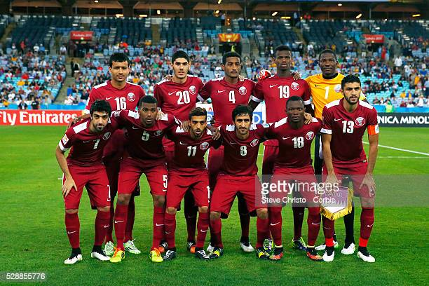 Qatar's run on team against Bahrain at Stadium Australia Sydney Australia Monday 19th January 2015