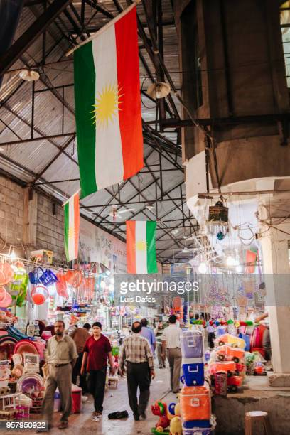 qaysari bazaar in arbil, iraqi kurdistan - dafos stock photos and pictures