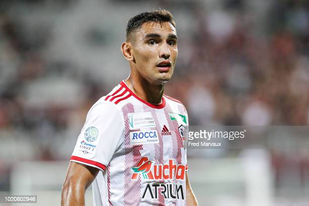 Qazim Laci of AC Ajaccio during the French Ligue 2 match between FC Metz and AC Ajaccio at Stade SaintSymphorien on August 20 2018 in Metz France