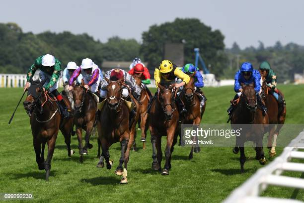 Qemah with Gregory Benoist on board win theDuke of Cambridge Stakes on Day Two of Royal Ascot at Ascot Racecourse on June 21 2017 in Ascot England