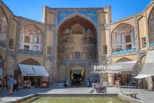 qeysarie gate, grand bazaar, isfahan, iran - エスファハーン グランドバザール ストックフォトと画像