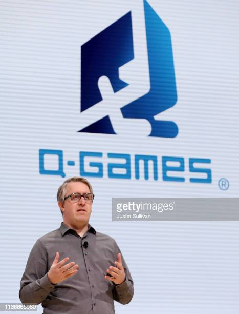 Games president and Mmanaging director Dylan Cuthbert speaks during the GDC Game Developers Conference on March 19 2019 in San Francisco California...