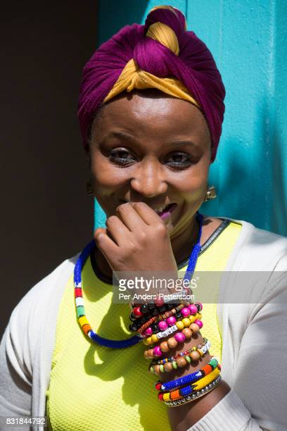Qhakaza Mthembu poses for a portrait on a corner at the popular Juta street on March 18 2016 in Braamfontein in downtown Johannesburg South Africa...