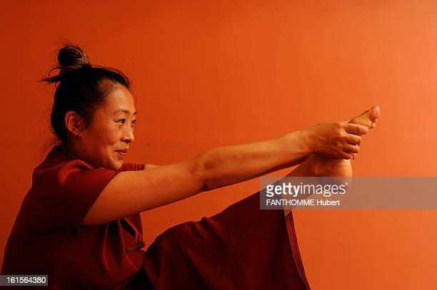 Qi Gong Traditional Chinese Gymnastics Paris June 2010 Demonstration of qi gong WEN KE Pioneered the discipline in France sitting seized the left...