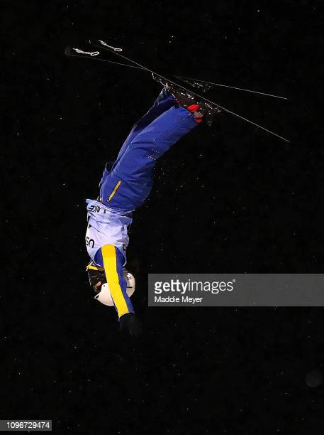 Qi Shao of China competes in the Women's Aerials Final during the FIS Freestyle Ski World Cup 2019 at the Lake Placid Ski Jumping Complex on January...
