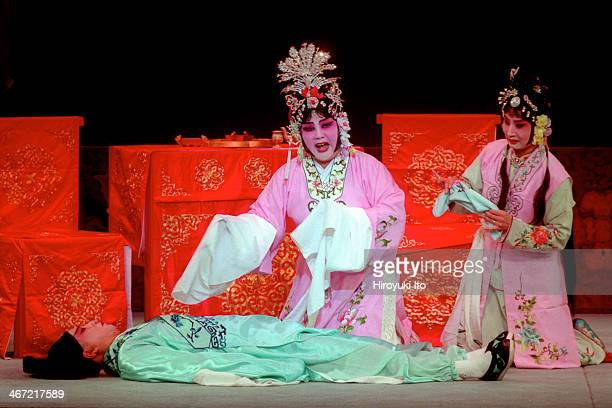 Qi Shu Fang Peking Opera Company presents 'The Legend of the White Snake' at the Kaye Playhouse on Saturday night October 7 2001This imageFrom left...