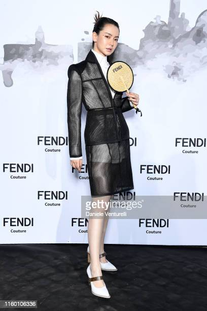 Qi Wei attends the Cocktail at Fendi Couture Fall Winter 2019/2020 on July 04 2019 in Rome Italy