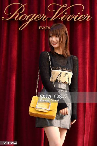 Qi Wei attends the Roger Vivier Presentation Spring/Summer 2019 during Paris Fashion Week on September 27 2018 in Paris France