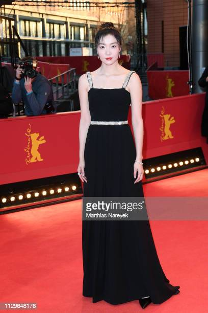 Qi Xi attends the 'So Long My Son' premiere during the 69th Berlinale International Film Festival Berlin at Berlinale Palace on February 14 2019 in...