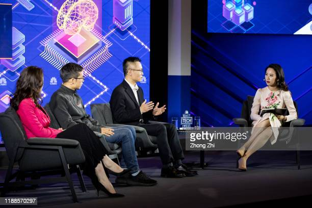 Qian Chen, reporter of CNBC speaks with Rong Luo, CFO of TAL Education Group, Doranda Doo, SVP of iFLYTEK Co. Ltd. And Song Zhang, Managing Director...