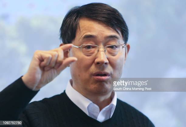 Qian Peiyuan Chair Professor of the Division of Life Science of HKUST holds a press conference after he won the State Science Award for his Discovery...