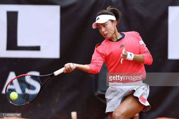 Qiang Wang during the WTA Internazionali d'Italia BNL first round match at Foro Italico in Rome Italy on May 13 2019