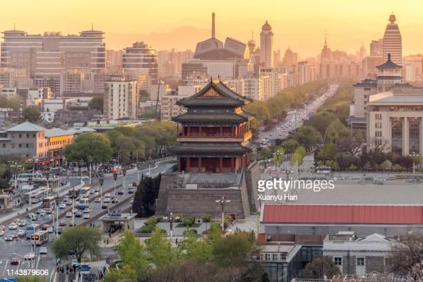qianmen street, beijing, china - gran salón del pueblo fotografías e imágenes de stock