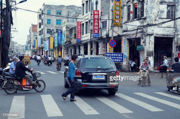 qilou old street - hainan island stock pictures, royalty-free photos & images