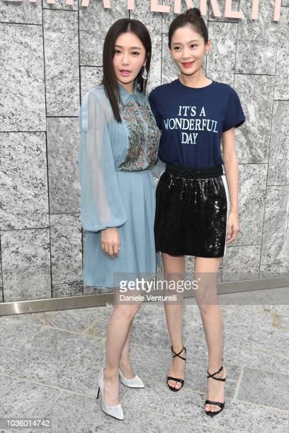 Qin Lan and Wang Yuan Ke attends the Alberta Ferretti show during Milan Fashion Week Spring/Summer 2019 on September 19 2018 in Milan Italy