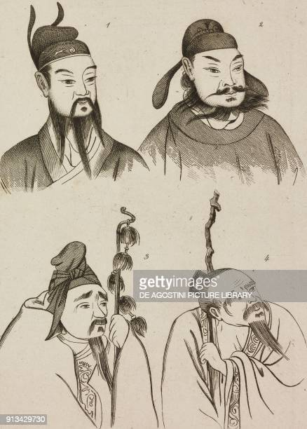 1 Qin Shi Huang 2 Xiang Ji o Xiang Yu 3 SutzuKing 4 Han FouSeng China engraving from Chine ou Description historique geographique et litteraire de ce...