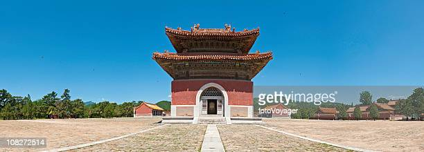 qing dynasty pagoda panorama china blue sky - hebei province stock pictures, royalty-free photos & images