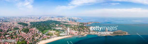 qingdao bay - qingdao beach stock pictures, royalty-free photos & images
