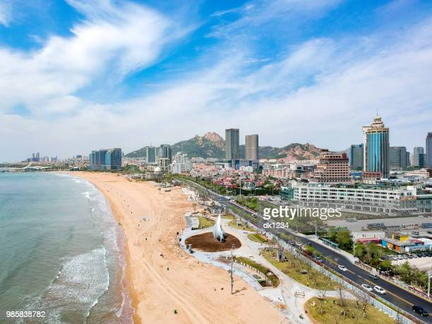 qingdao beach - qingdao beach stock pictures, royalty-free photos & images
