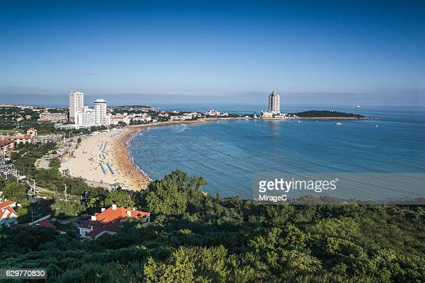 Qingdao Cityscape with Sea and Beach