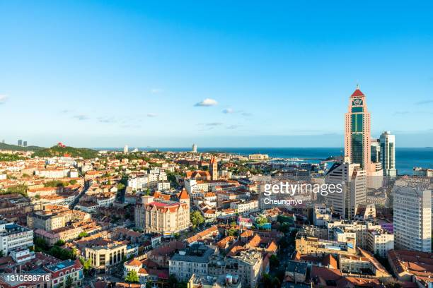 qingdao german colonial style architecture - qingdao beach stock pictures, royalty-free photos & images