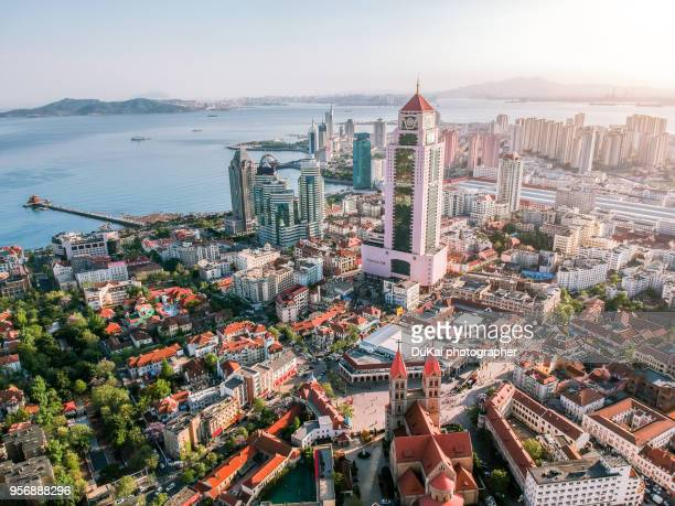 qingdao german colonial style architecture. - shandong province stock pictures, royalty-free photos & images