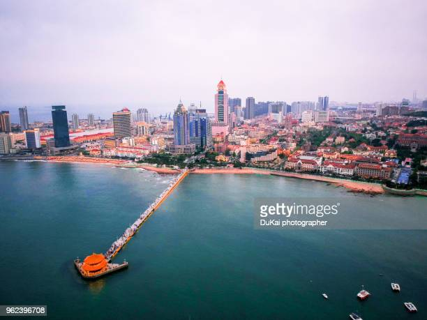qingdao skyline. - qingdao beach stock pictures, royalty-free photos & images