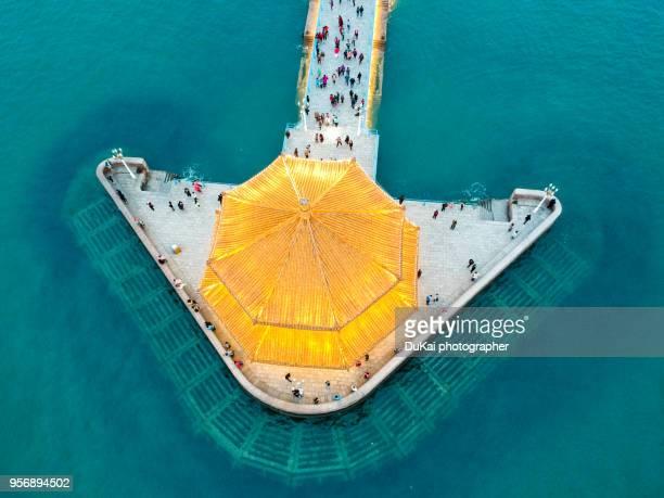 qingdao zhanqiao pier - qingdao beach stock pictures, royalty-free photos & images