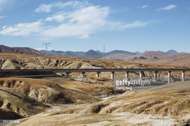 qinghai-tibet railway - qinghai province stock photos and pictures