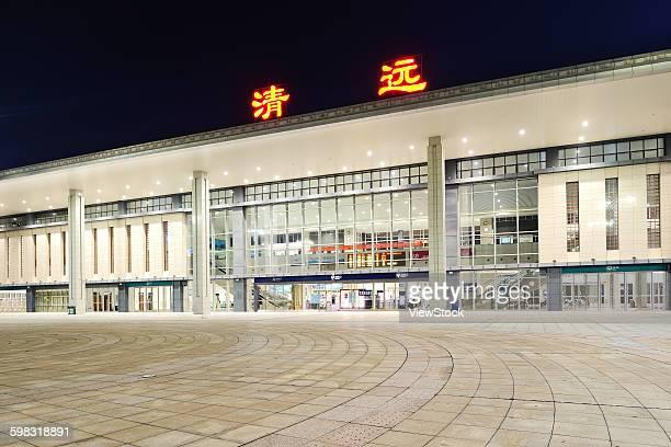 Qingyuan City, Guangdong Province, the night train station