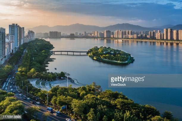 qingyuan city jiangxin island scenery - província de guangdong - fotografias e filmes do acervo