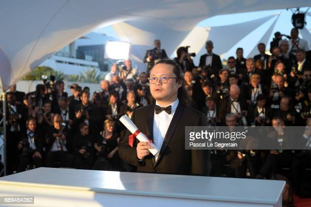 Qiu Yang winner of the award for Best Short for 'A Gentle Night' attends the Palme D'Or winner photocall during the 70th annual Cannes Film Festival...
