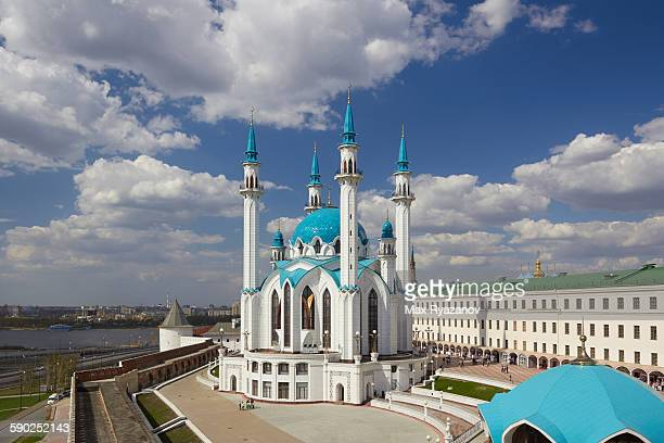 qol sharif (kul sharif ) mosque in kazan kremlin - kul sharif mosque stock pictures, royalty-free photos & images