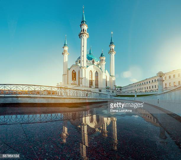 qol sharif mosque in kazan. russia - kul sharif mosque stock pictures, royalty-free photos & images