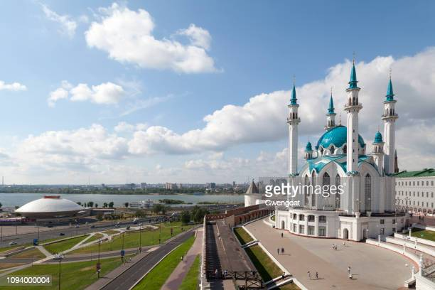 qolşärif mosque in kazan kremlin - kul sharif mosque stock pictures, royalty-free photos & images