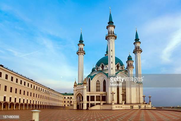 Qolsharif Mosque in Kazan at sunset