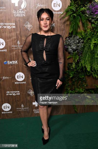Qorianka Kilcher attends the Global Green 2019 PreOscar Gala at Four Seasons Hotel Los Angeles at Beverly Hills on February 20 2019 in Los Angeles...