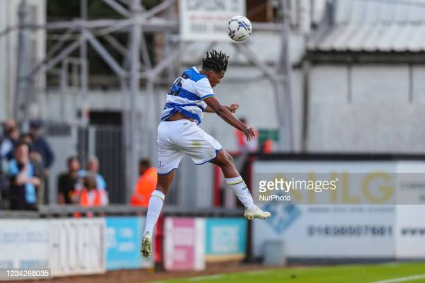 QPRs Sam McCallum during the Pre-season Friendly match between Cambridge United and Queens Park Rangers at the R Costings Abbey Stadium, Cambridge,...