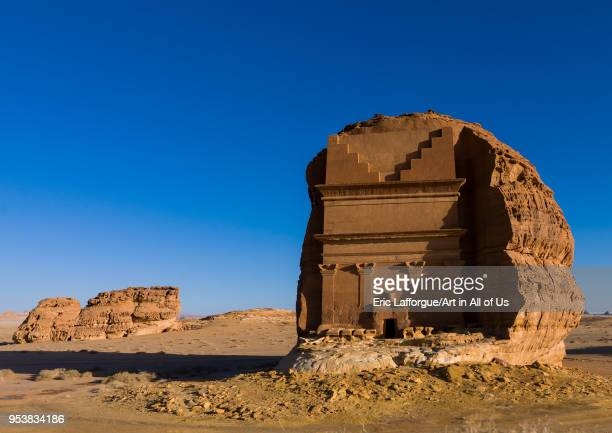 Qsar farid nabataean tomb in madain saleh archaeologic site Al Madinah Province AlUla Saudi Arabia on January 23 2010 in Alula Saudi Arabia